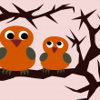 Two cute Owls — Stock Photo #17663391