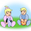 Two Babies — Stock Photo #17844959