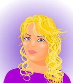 Sarışın kız — Stok fotoğraf