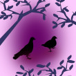 Black Doves - Stock Photo