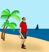Dzień na plaży — Zdjęcie stockowe