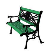 Зеленый окрашенная скамейка. — Стоковое фото