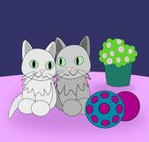 Gatos graciosos — Foto de Stock