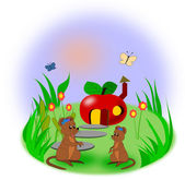 Two little Mice — Stock Photo