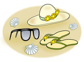 Accessories for the Beach, — Stock Photo