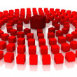 Stock Photo: Red cubes