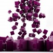 Purple cubes - Stock Photo