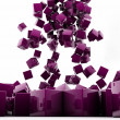 Royalty-Free Stock Photo: Purple cubes