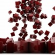 Red cubes - Stock Photo