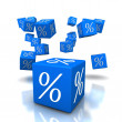 Discount cubes blue — Stock Photo
