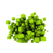 Green cubes — Stock Photo