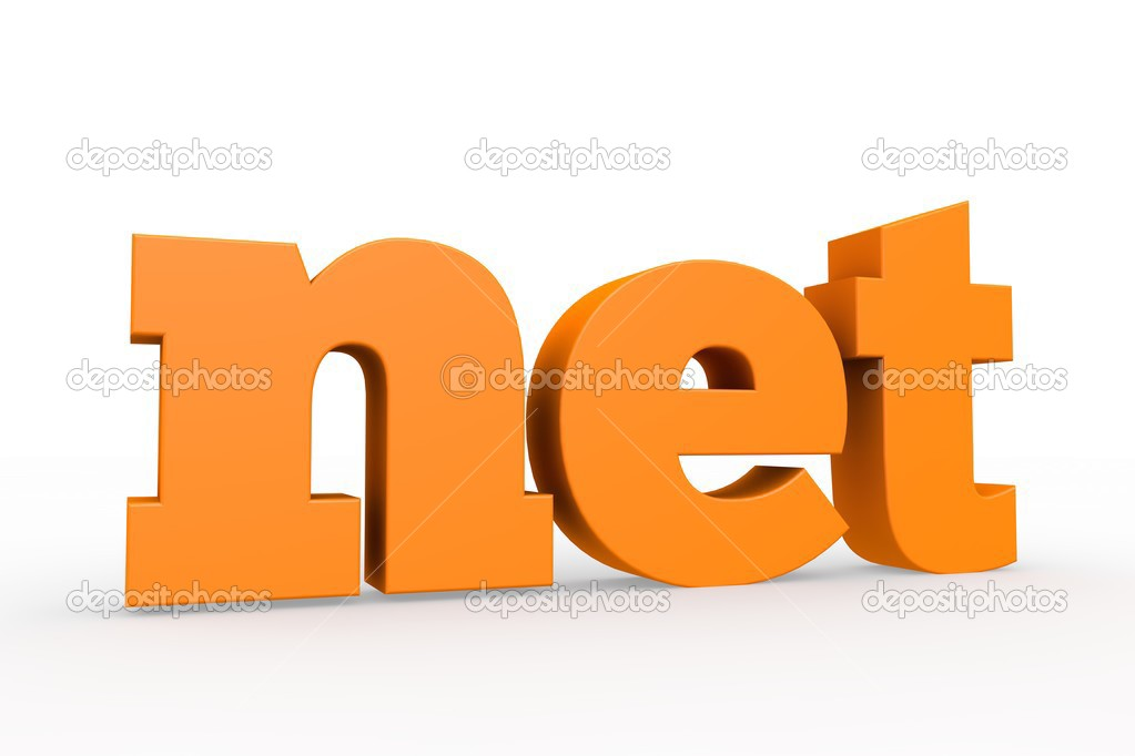 The best-known domains, 3d format  Stock Photo #13558327