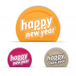 Happy new year tags — Stock Vector #13801602