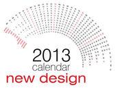 Calendario 2013 — Vector de stock
