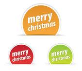 Merry Christmas tag — Stock Vector