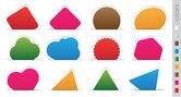 Geometric orange sticker — Stock Vector