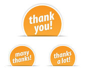 Thank you tag — Stock Vector
