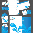 Corporate identity template - Vettoriali Stock 