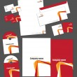 Royalty-Free Stock Vectorafbeeldingen: Corporate identity template