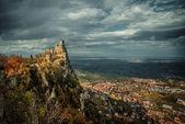Rocca della Guaita, the most ancient fortress of San Marino — Stock Photo