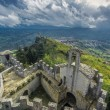 Panoramic view of a fortress in San Marino — Stock Photo
