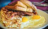 American breakfast — Stock Photo