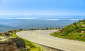 Cadillac Mountain drive in Acadia National Park, Maine in a clea — Stock Photo