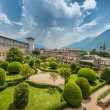 Beautiful Italian Garden  from above — Stock Photo