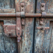 Rusty lock of old gates.  — Stock Photo