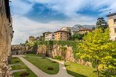 Jardín interior del castillo de buonconsiglio en trento — Foto de Stock