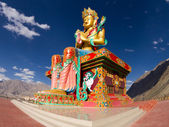 Buddha statue in Nubra valley — Stock Photo