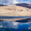 Stock Photo: Tsomoriri mountain lake panorama with mountains and blue sky ref