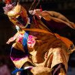 Dancer in mask performing religious Cham dance in Ladakh, In — Foto de stock #23828345