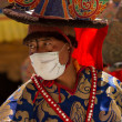 Dancer performing religious black hat dance — Stok Fotoğraf #23828413