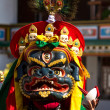 The dancer in mask performing religious Cham dance in Ladakh, In - Stock Photo
