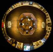Small christian monastery panorama — Stock Photo