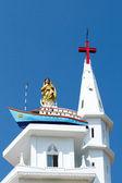 Our Lady of Good Voyage Church, Kottappuram, Vizhinjam — Foto de Stock