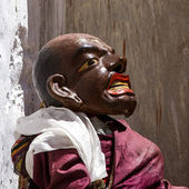 KARSHA, INDIA - JUL 17: unidentified monk performs a religious m — Stock Photo