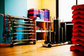 Aerobics equipment — Stock Photo