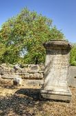 Greek inscription at the ancient site of Olympia, Greece — Stock Photo