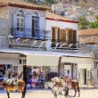 Donkeys on Greek island — Stock Photo