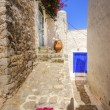 Greek island alley — Stock Photo