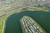 Aerial view of Mission Bay, San Diego — Stock Photo