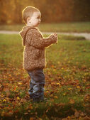 Outdoor little boy — Stock Photo