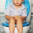 On the toilet — Stock Photo