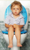På toaletten — Stockfoto