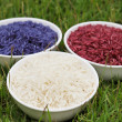 Colorful rice — Stockfoto