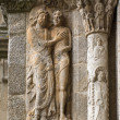 Romanesque Adam and Eve in Compostela Cathedral — Stock Photo