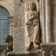 Stock Photo: Romanesque Pantocrator in CompostelCathedral
