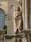 Romanesque Pantocrator in Compostela Cathedral — Stock Photo